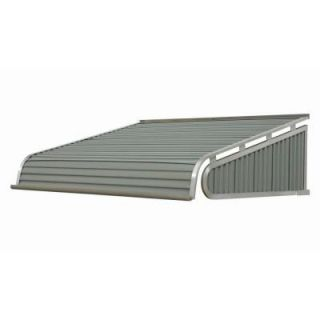 NuImage Awnings 6 ft. 2100 Series Aluminum Door Canopy (16 in. H x 42 in. D) in Greystone 21X7X7245XX05X