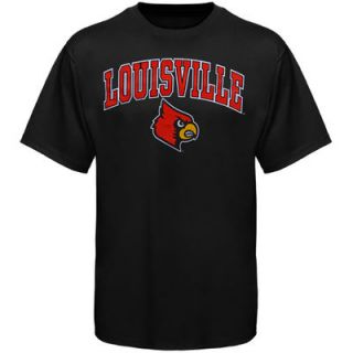 Louisville Cardinals New Agenda Arch Over Logo T Shirt   Black