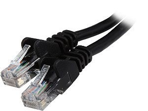 BELKIN A3L791 12 BLK S 12 ft. Cat 5E Black RJ45M/RJ45M Snagless  Patch Cable