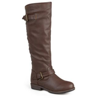 Womens Bamboo By Journee Studded Buckle Detail Boot   Assorted Colors