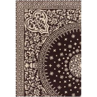 Chandra Thomaspaul Chocolate/Cream 7 ft. 9 in. x 10 ft. 6 in. Indoor Area Rug T SOCC 79106