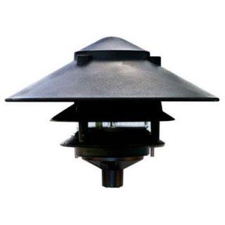 Filament Design Corbin 1 Light Black 3 Tier Outdoor Pagoda Pathway Light CLI DBM3816