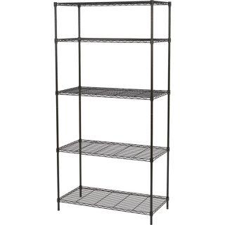 Ironton Wire Shelving System — 5-Shelf, 250-lb. Capacity Per Shelf, 36in.W x 18in.D x 72in.H  Wire Shelving Starter Kits