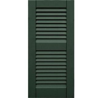 Winworks Wood Composite 15 in. x 32 in. Louvered Shutters Pair #656 Rookwood Dark Green 41532656