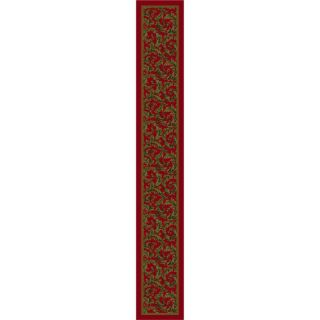 Milliken Red Tufted Runner (Common: 2 ft x 16 ft; Actual: 2.333 ft x 15.5 ft)