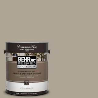 BEHR Premium Plus Ultra Home Decorators Collection 1 gal. #HDC NT 14 Smoked Tan Flat Exterior Paint 485401