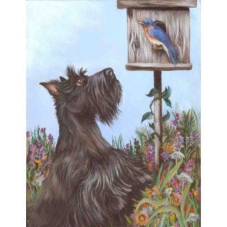 Precious Pet Paintings Scottish Terrier Spring Flag