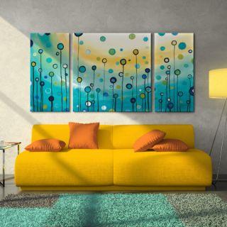 Megan Aroon Duncanson Lollipop Field 3 piece Canvas Art Print