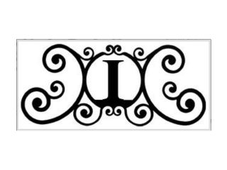 Village Wrought Iron HP OD I House Plaque Letter I