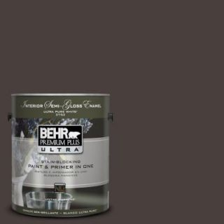 BEHR Premium Plus Ultra 1 gal. #UL130 23 Sweet Molasses Interior Semi Gloss Enamel Paint 375301