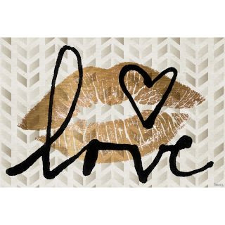 Kiss of Love Painting Print on Wrapped Canvas by Marmont Hill