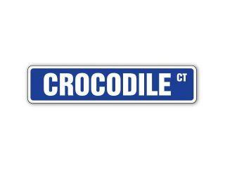 CROCODILE Street Sign alligator reptile hunter gift