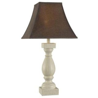 Hampton Bay Duval 27.75 in. Weathered White Table Lamp HDP11232