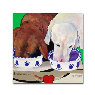 Trademark Fine Art 24 in. x 24 in. Summer Wag Ale Canvas Art PS115 C2424GG