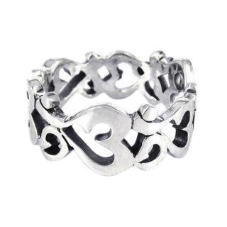 Spiritual Harmony Ohm or Aum Symbol .925 Silver Ring (Thailand)