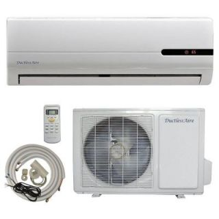 DuctlessAire 18,000 BTU 1.5 Ton Ductless Mini Split Air Conditioner and Heat Pump   220V/60Hz with 23 ft. Complete Kit DA18 H