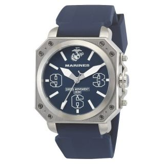 Mens U.S. Marine Corps C4 Swiss Quartz Watch   Blue