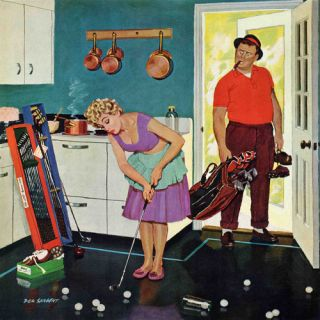 Marmont Hill Putting Around in the Kitchen by Richard Sargent Painting