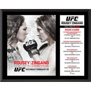 Authentic UFC 184 Ronda Rousey vs. Cat Zingano 12 x 15 Sublimated Plaque