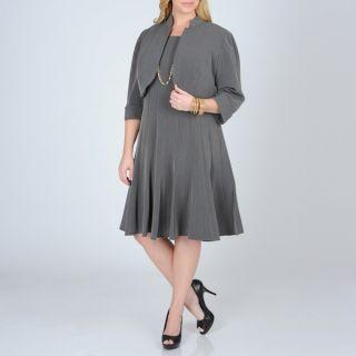 Richards Womens Plus 2 piece Career Dress   14938808