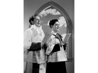 Altar boys singing in church Poster Print (18 x 24)