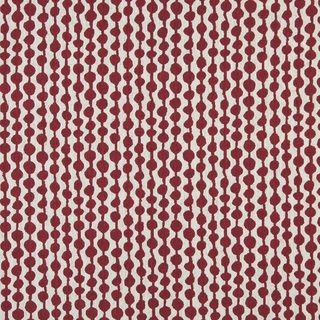 A0002A Red Off White Modern Geometric Upholstery Fabric   17402111
