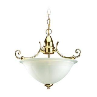 Sea Gull Lighting Canterbury 2 Light Polished Brass Semi Flush Fixture  DISCONTINUED 51050 02
