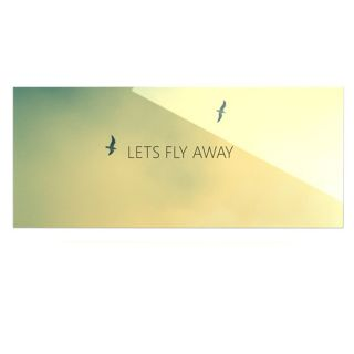Lets Fly Away by Richard Casillas Textual Art Plaque by KESS InHouse