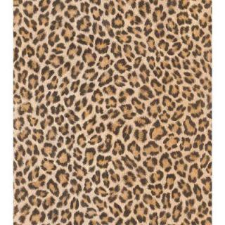 Washington Wallcoverings African Queen II 56 sq. ft. Realistic Tone on Tone Leopard Print Vinyl Wallpaper AQ473612