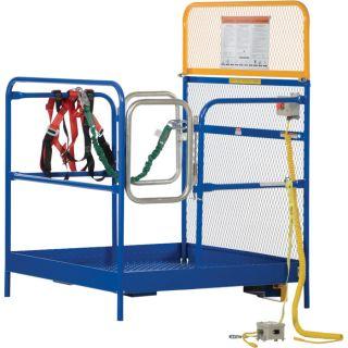 Vestil Work Platform — Side Dual-Door Entry, Full Featured, 48in.L x 48in.W Platform, Model# WP-4848-DD-FF  Forklift Platforms