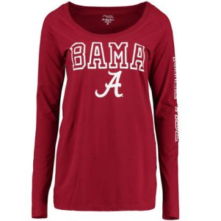 Alabama Crimson Tide Alta Gracia (Fair Trade) Womens Isabel Relaxed Fit Long Sleeve T Shirt   Crimson