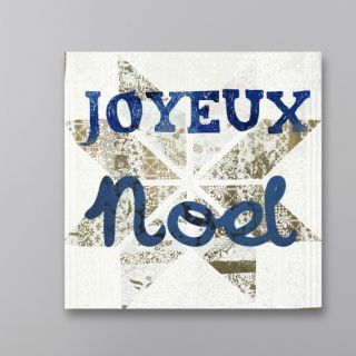 Star Noel Blue Textual Art on Canvas by Oliver Gal