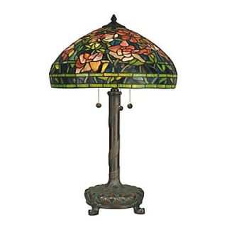 Dale Tiffany Antique Art 27 H Table Lamp with Bowl Shade