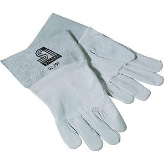 Steiner TIG Welding Gloves - Grain goatskin, Sensi-TIG, Gray, X-Large, Pair, Model# 0229-X  Welding Gloves