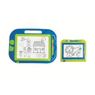 Just Kidz 2 Pack Magnetic Doodle Boards   Green/Blue   Toys & Games
