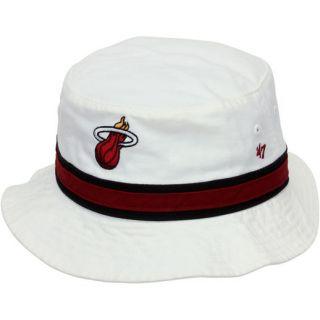 47 Brand Miami Heat Hardwood Classic Bucket Hat   White