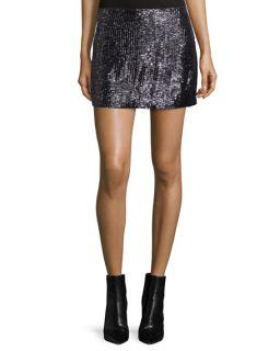 MLV Shannon Embellished Mini Skirt, Black