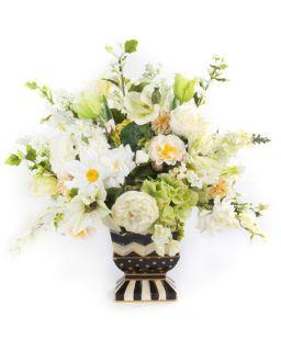 MacKenzie Childs Cutting Garden White Mantel Bouquet