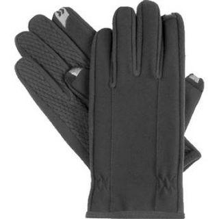 Isotoner Mens SmarTouch Gloves (Medium, Black) 75203 MD