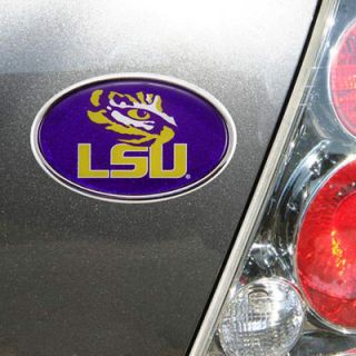LSU Tigers Glitter Auto Emblem   Purple/Gold