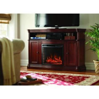 Home Decorators Collection Montero 56 in. Media Console Infrared Electric Fireplace in Mahogany 268 67 70M Y