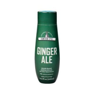 SodaStream 440 ml Fountain Style Sparkling Ginger Ale Drink Mix (Case of 4) 1100912010