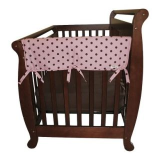 Set of Two Maya Dot 27 Side Rail Cover for Convertible Cribs  Pink