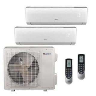 GREE Multi 21 Zone 18,000 BTU 1.5 Ton Ductless Mini Split Air Conditioner with Heat, Inverter, Remote   208 230 Volt/60Hz MULTI18HP201