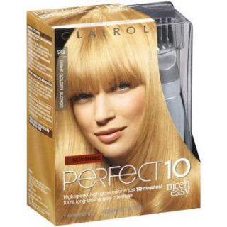 Clairol High Gloss Light Golden Blonde Runway Blonde 9G Perfect 10 Nice'n Easy 10 Minute Hair Color, 1 ct
