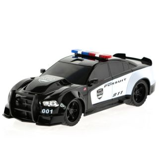 Dodge Charger RC Black Plastic Remote controlled Police Car   18780119