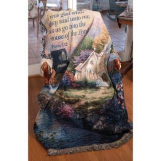"""Church in the Country Religious Verse Psalm 122:1 Tapestry Blanket 50"""" x 60"""""""