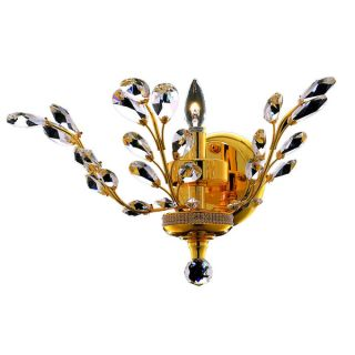 Somette Bern Royal Cut Crystal and Gold 1 light Wall Sconce   15767126