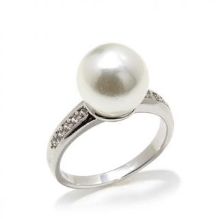 """Homage by Consuelo Vanderbilt Costin """"The Darling"""" Simulated Pearl and CZ Accen   7891252"""
