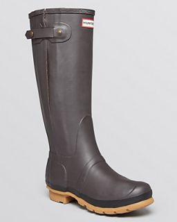 Hunter Rain Boots   Original Slim Zip Textured